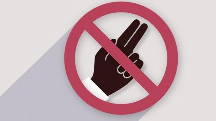 Un póster de la OMS que pide que se prohibiam las pruebas de virginidad