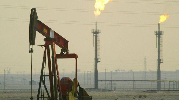Un campo petrolero en Kuwait.