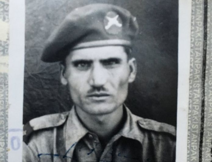 Hussain Gul's photo on his Kurram Militia ID