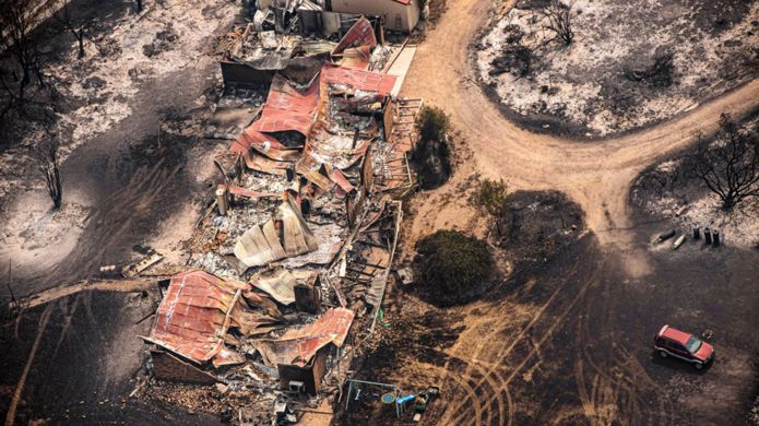 Properties destroyed in East Gippsland, Victoria