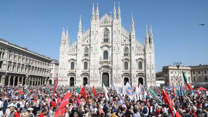Manifestação da Liberação da Itália em Milão em 2018
