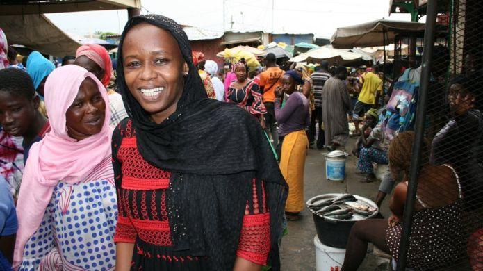 Hadi Khadiata Diop in fish market