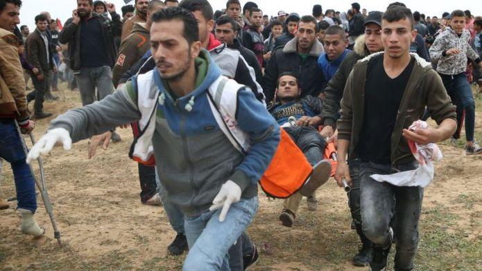 زخمی فلسطینی