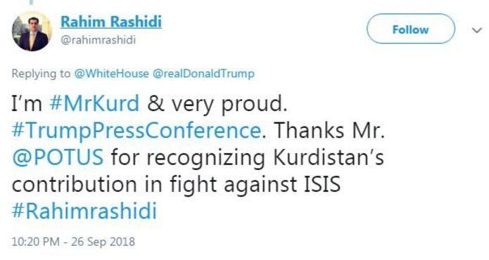 rashidi'nin twitter mesajı