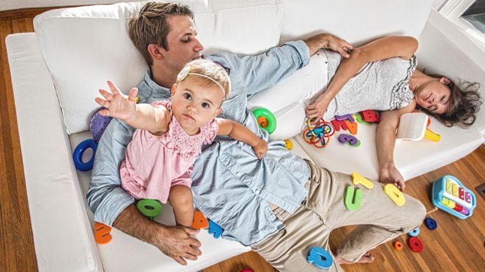 Padres sin poder dormir