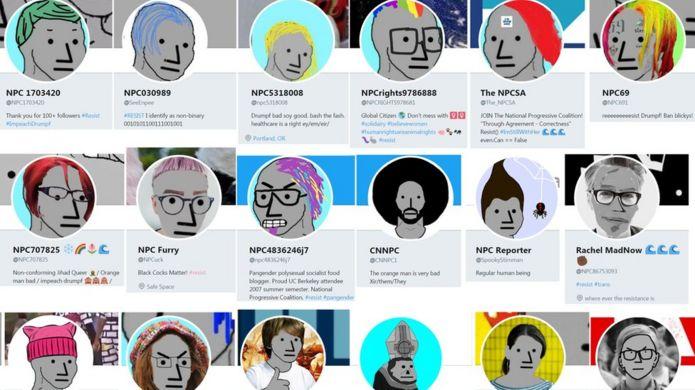 NPC Twitter profiles