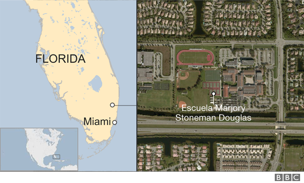 Mapa de ubicación de la escuela.