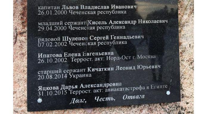 Камень памяти погибших
