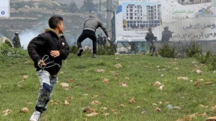 مناطق نزدیک به رامالله هم شاهد درگیریهایی بود
