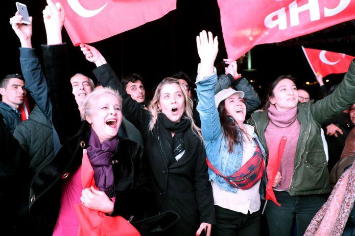 CHP celebration in Ankara, 31 Mar 19