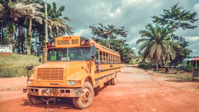 School bus in Africa