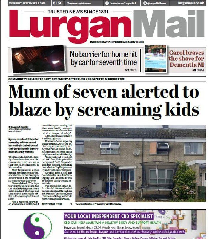 NI weekly papers: Rainbow flag row and summer crime spree