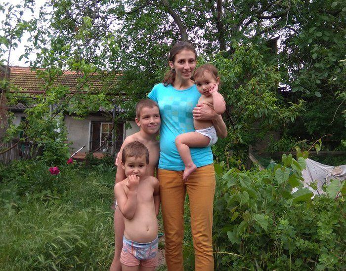 Veronika Sidorenko and her children