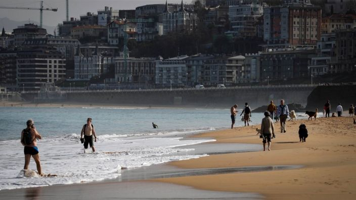 Beach in San Sebastian