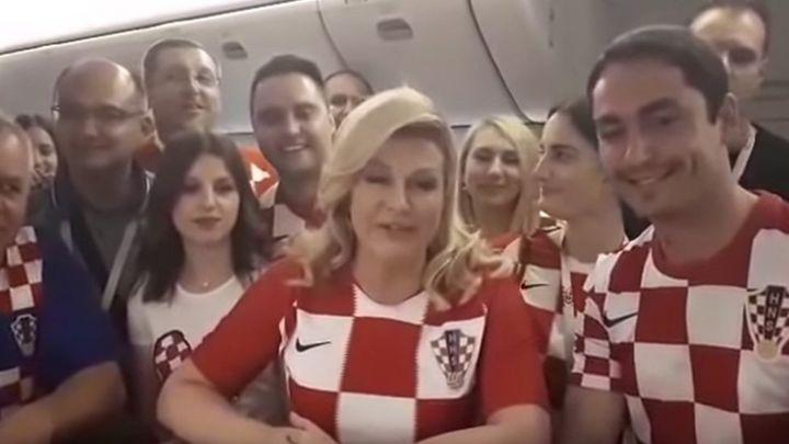 """Спасибо, Россия!"": Президент Хорватии записала видео, где по-русски благодарит за гостеприимство на чемпионате мира"