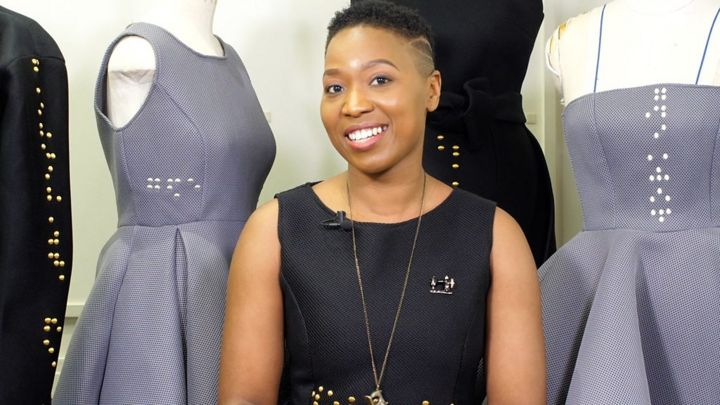 My fashion designs contain Braille messages' - BBC News