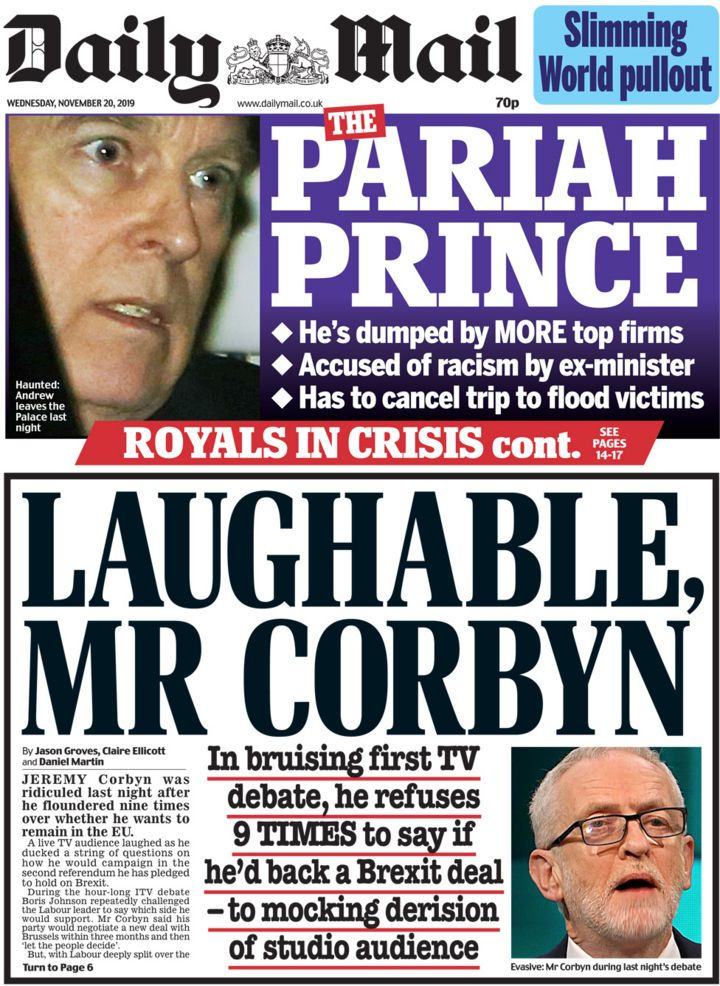 Newspaper headlines: 'Survival' and 'floundering' in election debate