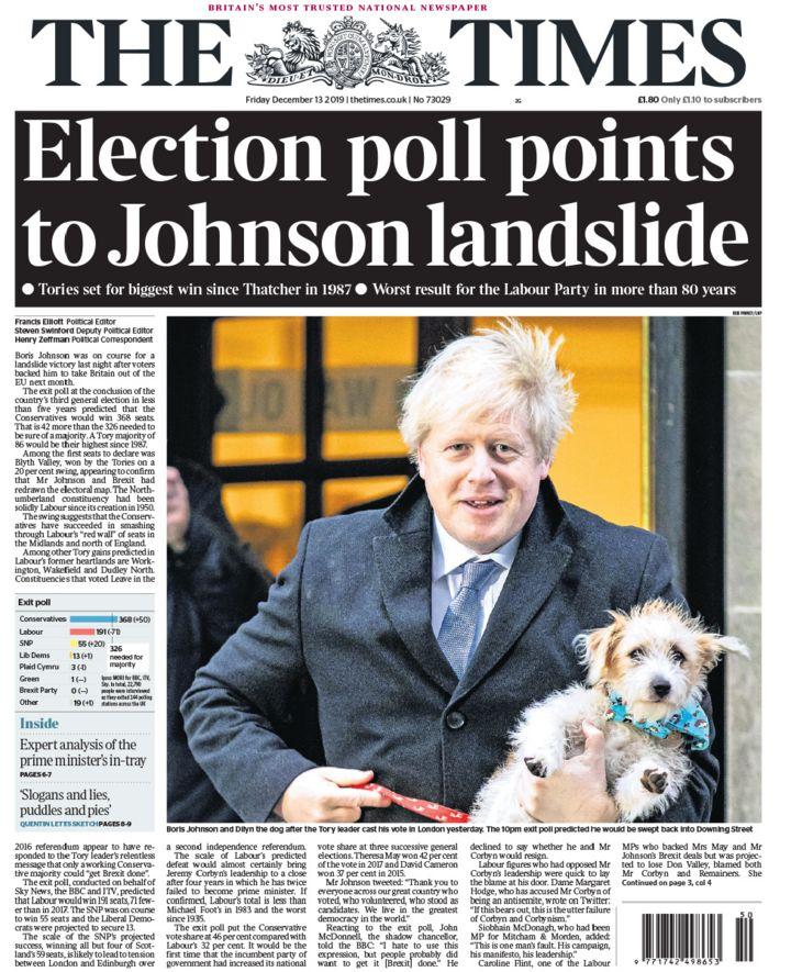 Newspaper headlines: 'Rejoice for Boris' or the 'Nightmare before Xmas'?