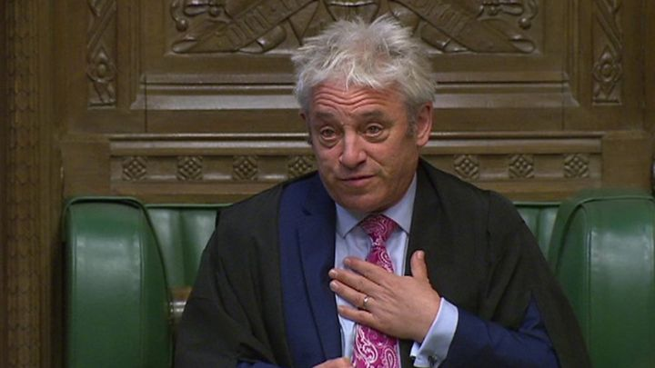 Emotional Speaker John Bercow addresses Richard Ratcliffe