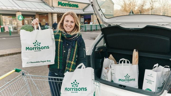 Morrisons to sell paper shopping bags in all stores BBC News