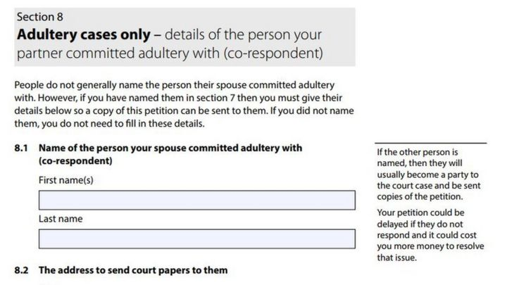 New divorce form 'invites name and shame' of adulterers - BBC News