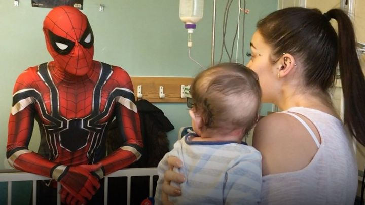 The 'Spider-Man' who cheers up sick kids in Nottingham
