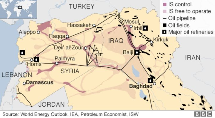 Islamic State and the crisis in Iraq and Syria in maps BBC News – Syria Map World