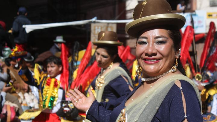 Angels and devils battle it out at Bolivian festival