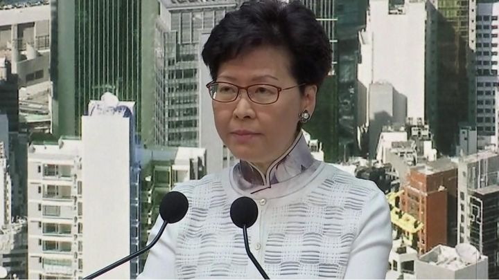 Carrie Lam: Hong Kong leader's 'deep sorrow' over controversy