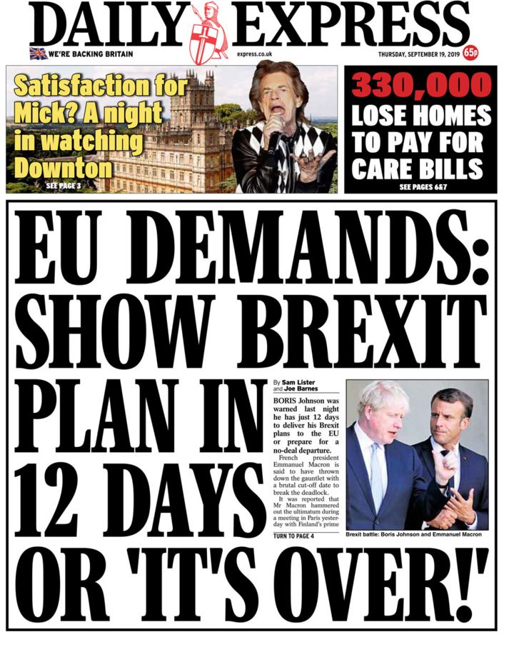 Newspaper headlines: PM told to show Brexit plan and Labour 'reform'