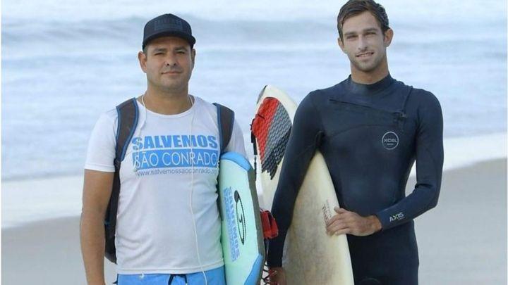 Surfe une moradores do Rio em área marcada pela desigualdade
