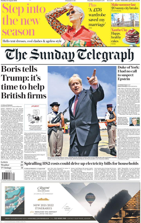 Newspaper review: Boris Johnson talks to Donald Trump and 'threatens' EU