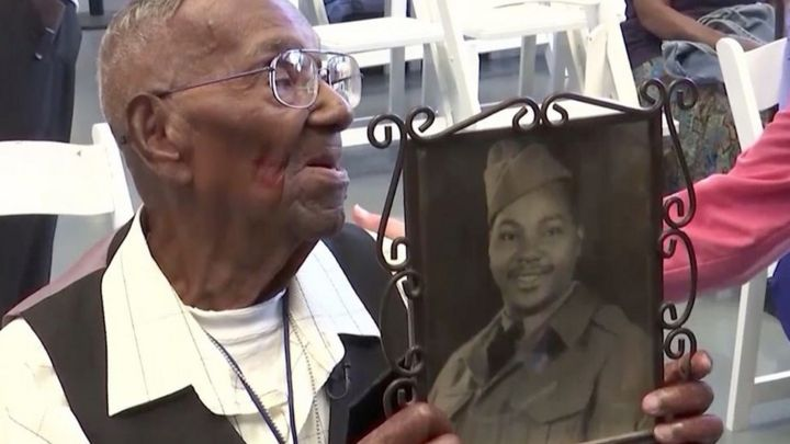Oldest US WW2 veteran celebrates 110th birthday