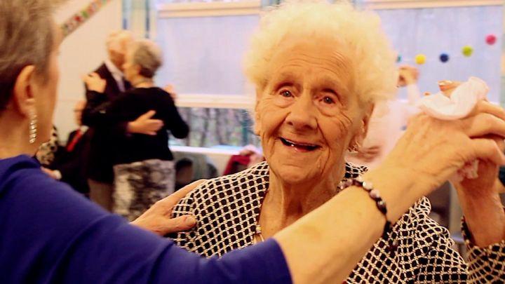 Woman, aged 100, dances 'three times a week'