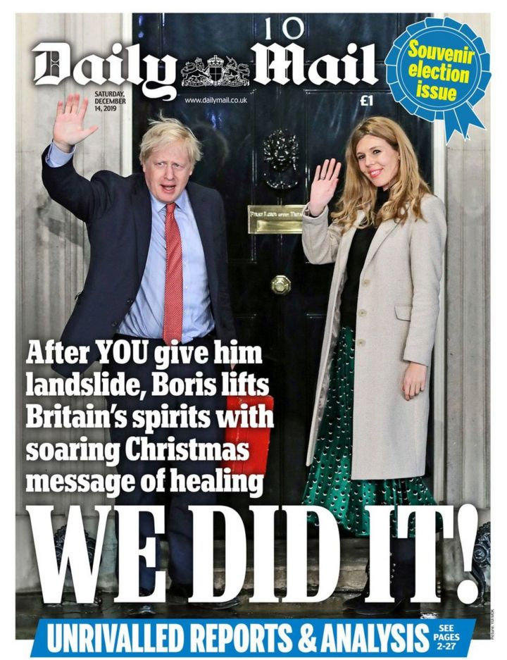 Newspaper headlines: Boris Johnson's 'Christmas message of healing'