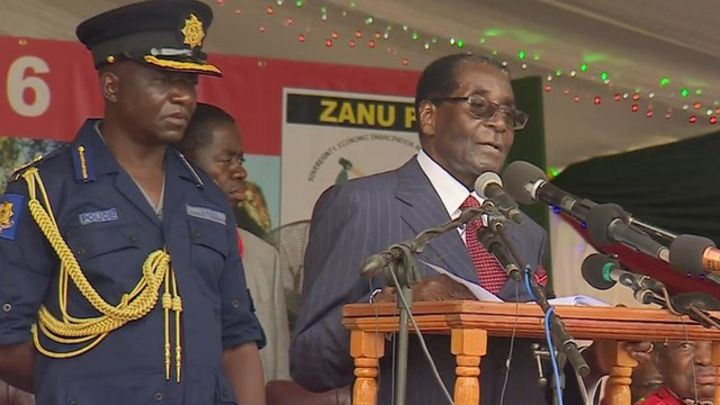 Robert Mugabe: Zimbabwe leader's birthday party criticised