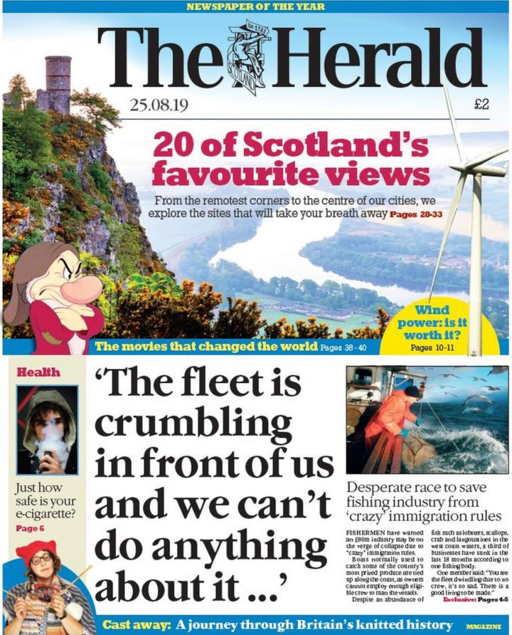 Scotland's papers: 'Crazy' migration rules 'sinking' fishing industry
