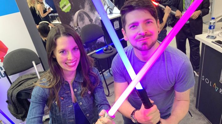 Expo Stands Lightsaber : Ces the lightsaber you can strike with force bbc news