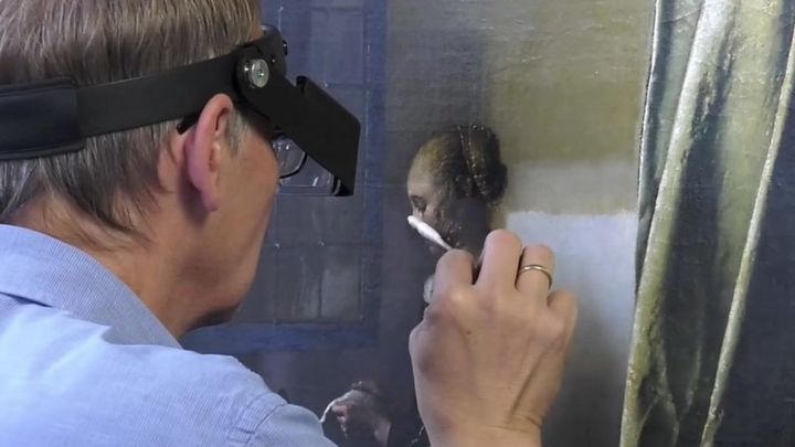 Previously unseen Cupid revealed in Vermeer masterpiece