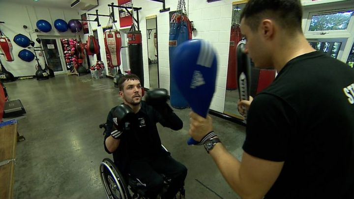 'My wheelchair didn't stop me getting in the boxing ring'