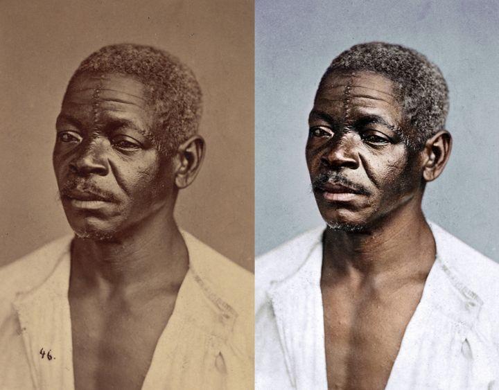 Artista restaura cor de brasileiros fotografados às vésperas da abolição