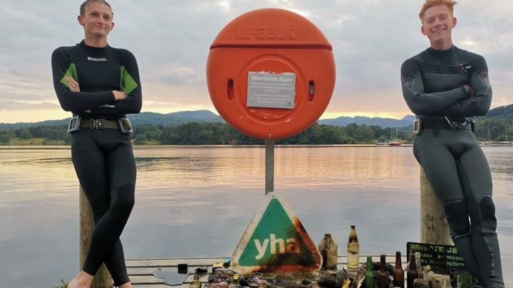 The Lake District divers cleaning up under the water