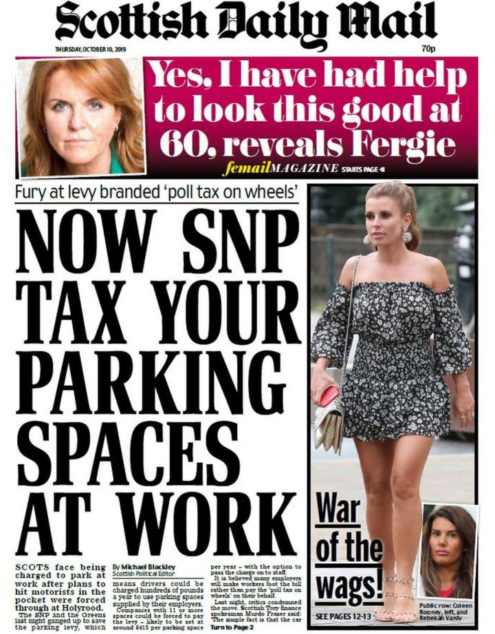 Scotland's papers: 'Poll tax on wheels' and last-ditch Brexit talks