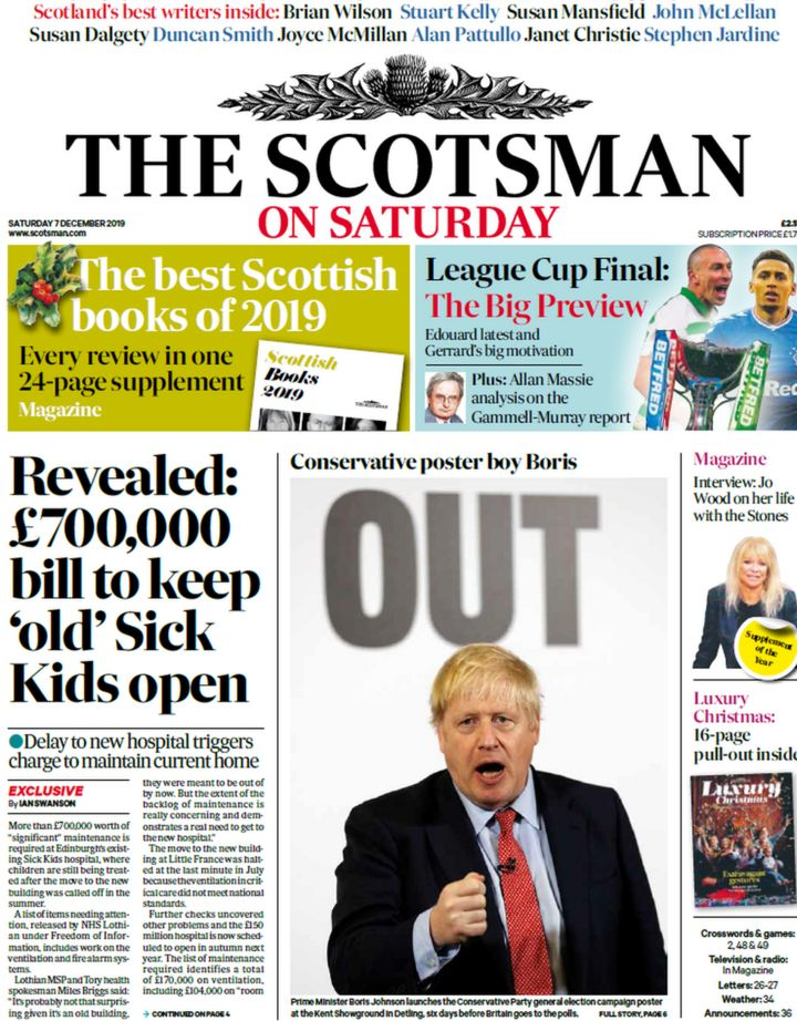 Scotland's papers: Sick Kids hospital bill and holiday death mystery