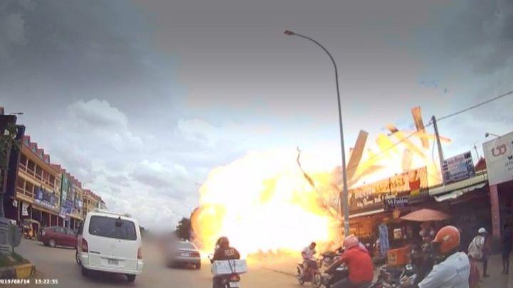 British woman 'horrifically burnt' in Cambodia explosion