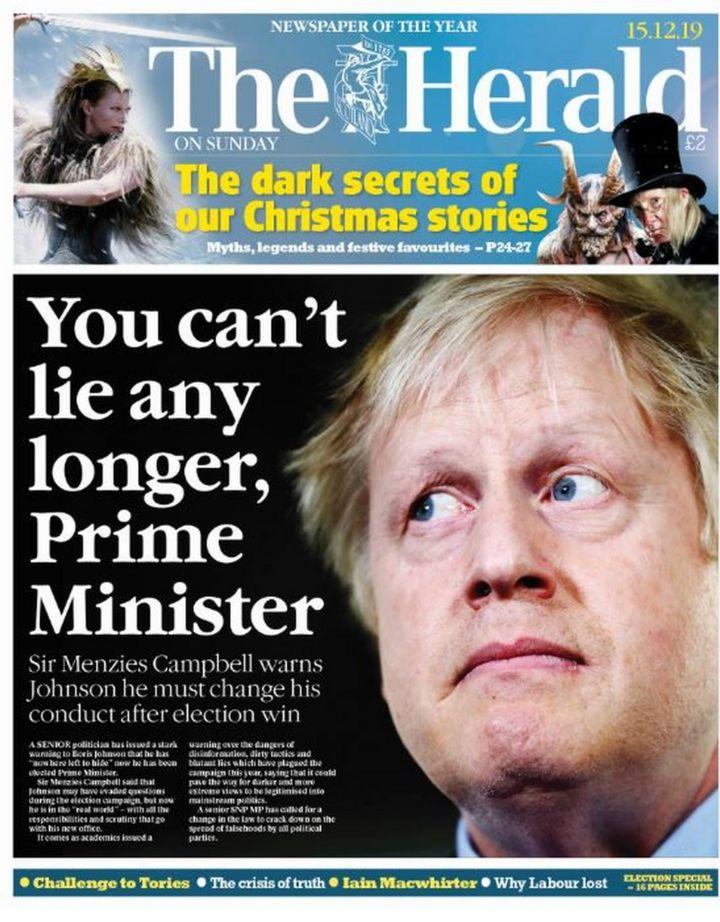 Scotland's papers: 'Stop lying' and Boris to 'love bomb' Scotland