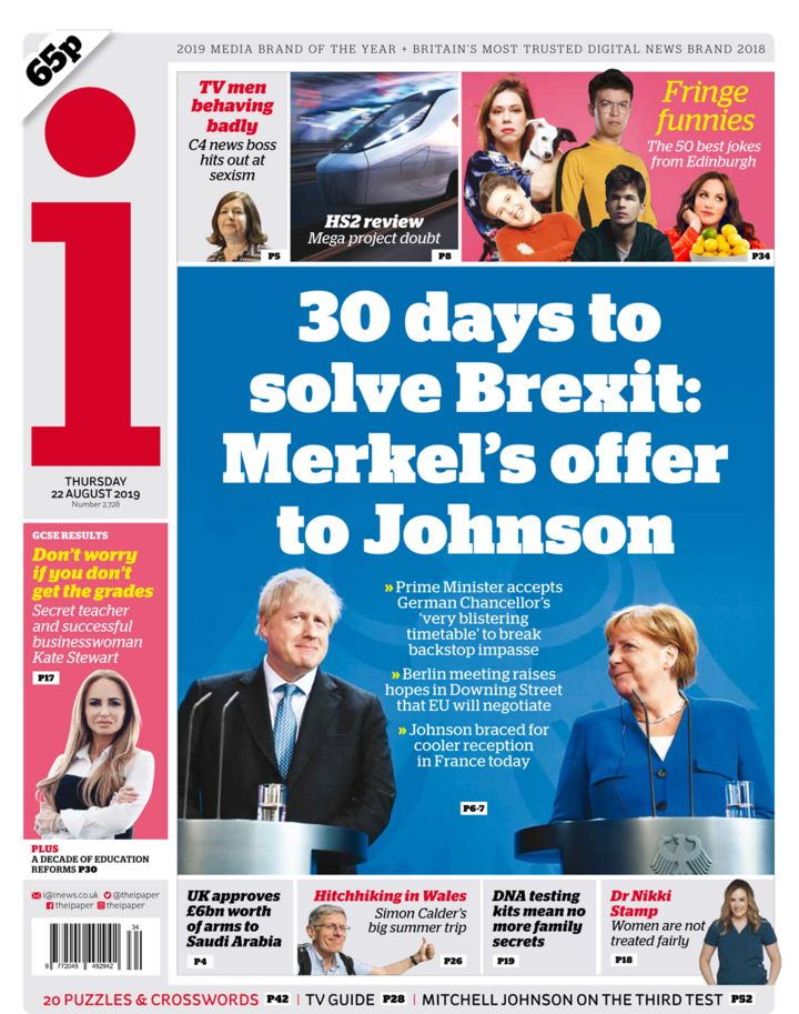 Newspaper headlines: 30 days to do a deal and HS2 'heading for buffers'