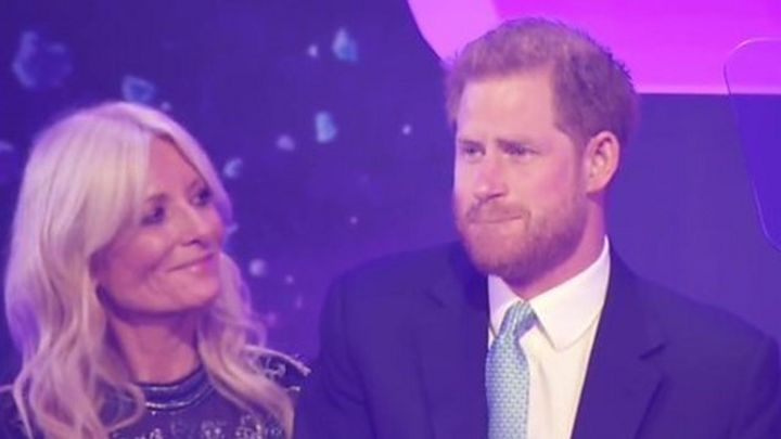 Prince Harry has emotional moment in speech
