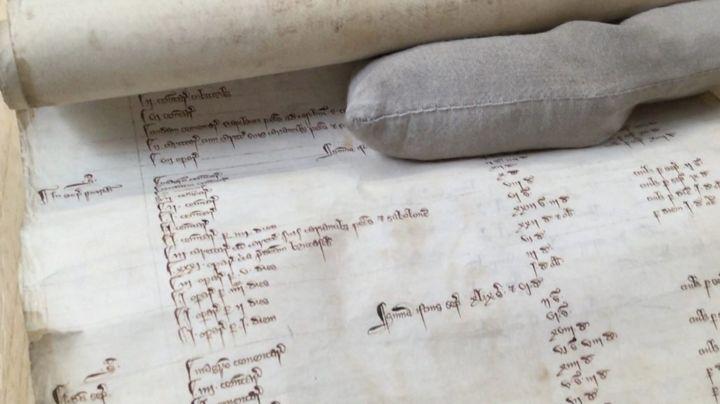 Medieval scroll sheds light on demolished Gloucester castle