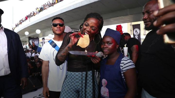 Tiwa Savage meet 'kid chef' Samantha Soje